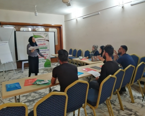 Training volunteers in monitoring and...
