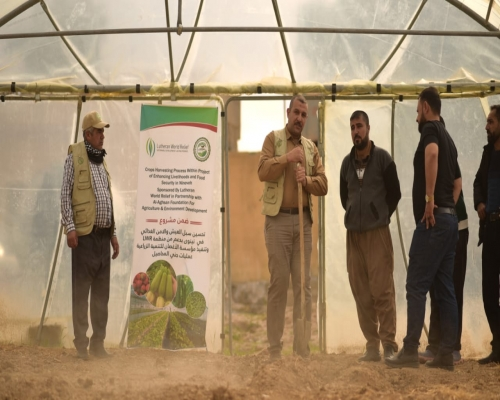 A training course for farmers on how to grow...